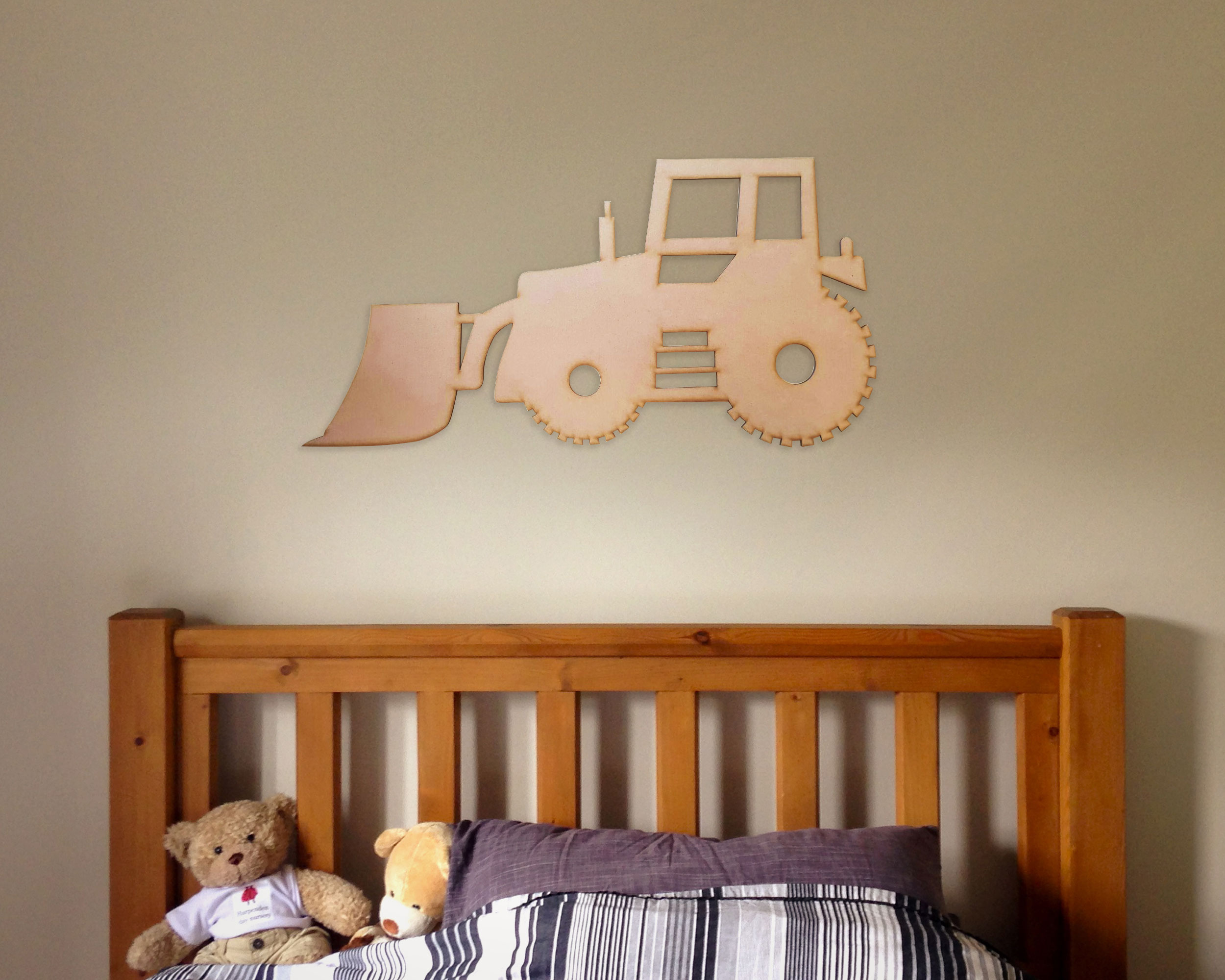 Kids Tractor Wall Decor 60cm The Laser Company