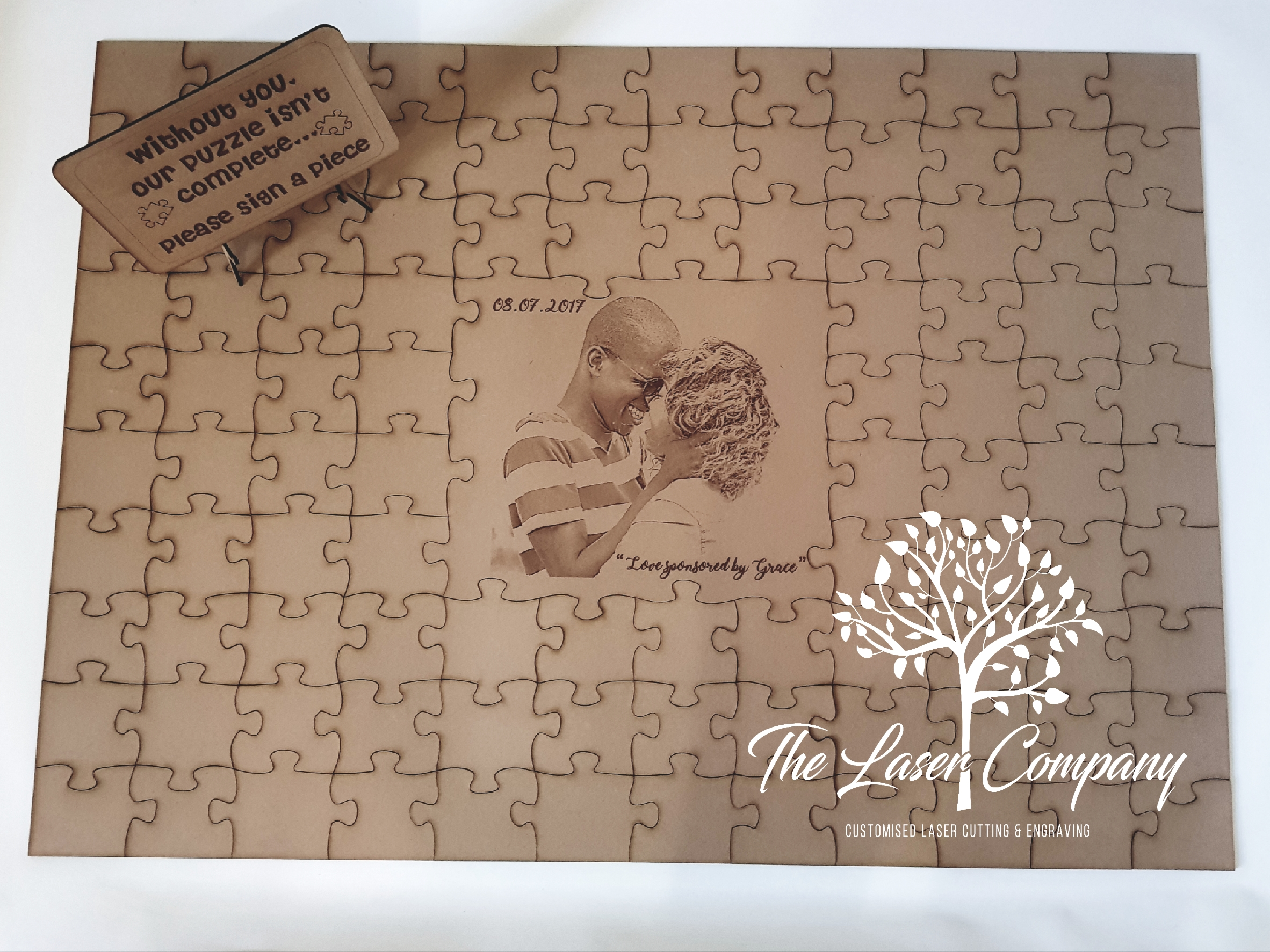 Wedding Puzzle Guest Book The Laser Company